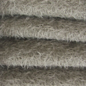"""1//6 yd 300S//CM Oatmeal INTERCAL 1//2/"""" Ultra-Sparse Curly Matted Mohair Fabric"""