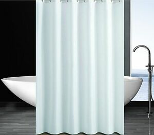 Image Is Loading Solid White Shower Curtain 2m X 2 4m