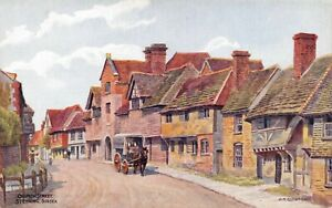 Vintage-West-Sussex-Art-Postcard-Church-Street-Steyning-by-A-R-Quinton-DP3