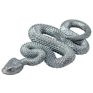Handmade-925-Silver-Snake-Pendant-Necklace-Jewelry-DIY-Accessories