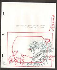 """Flintstones Animation Art - """"Rock Rockstone"""" Barney Twirling With Fans Scene 3"""