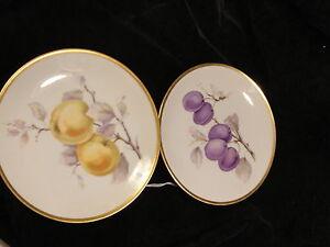Two-Vintage-Bavarian-Fruit-Plates