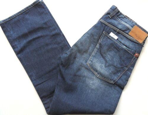 "34/""x32/"",34/""x34/"" PEPE JEANS Men/'s Comfort Fit Straight Leg Denim Alban Mid Blue"