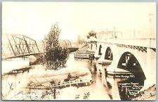 MILFORD STRATFORD CT 3 WASHINGTON BRIDGES ANTIQUE ADVERTISING REAL PHOTO PC RPPC