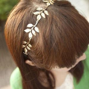 Vintage-Woman-Girls-Elastic-Golden-Headwear-Hair-Band-Hair-Accessories-Leaf