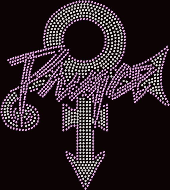 Formerly Known As Prince Symbol Name Hotfix Iron On Rhinestone Shirt