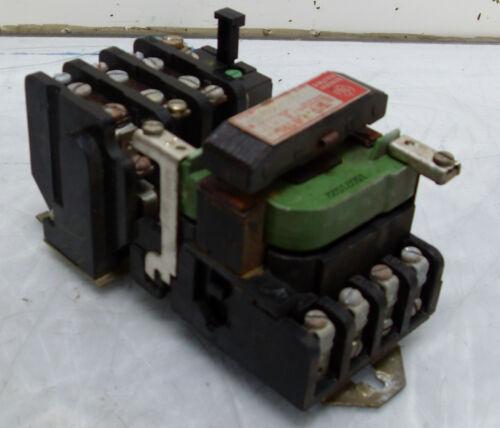 Used CR206B000AQA General Electric Size 0 Motor Starter 120V Coil WARRANTY