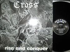 "12"" Vinyl LP Cross - Rise and Conquer RARE OI Vinyl LP Rock o Rama"