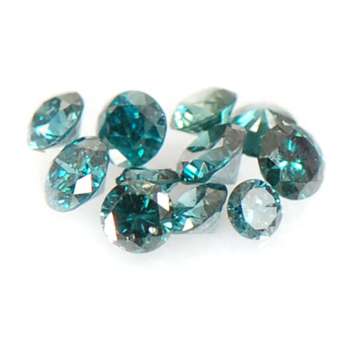 Excellent Round Shape Natural Blue Diamond Lot 0.30CT With Free Certificate