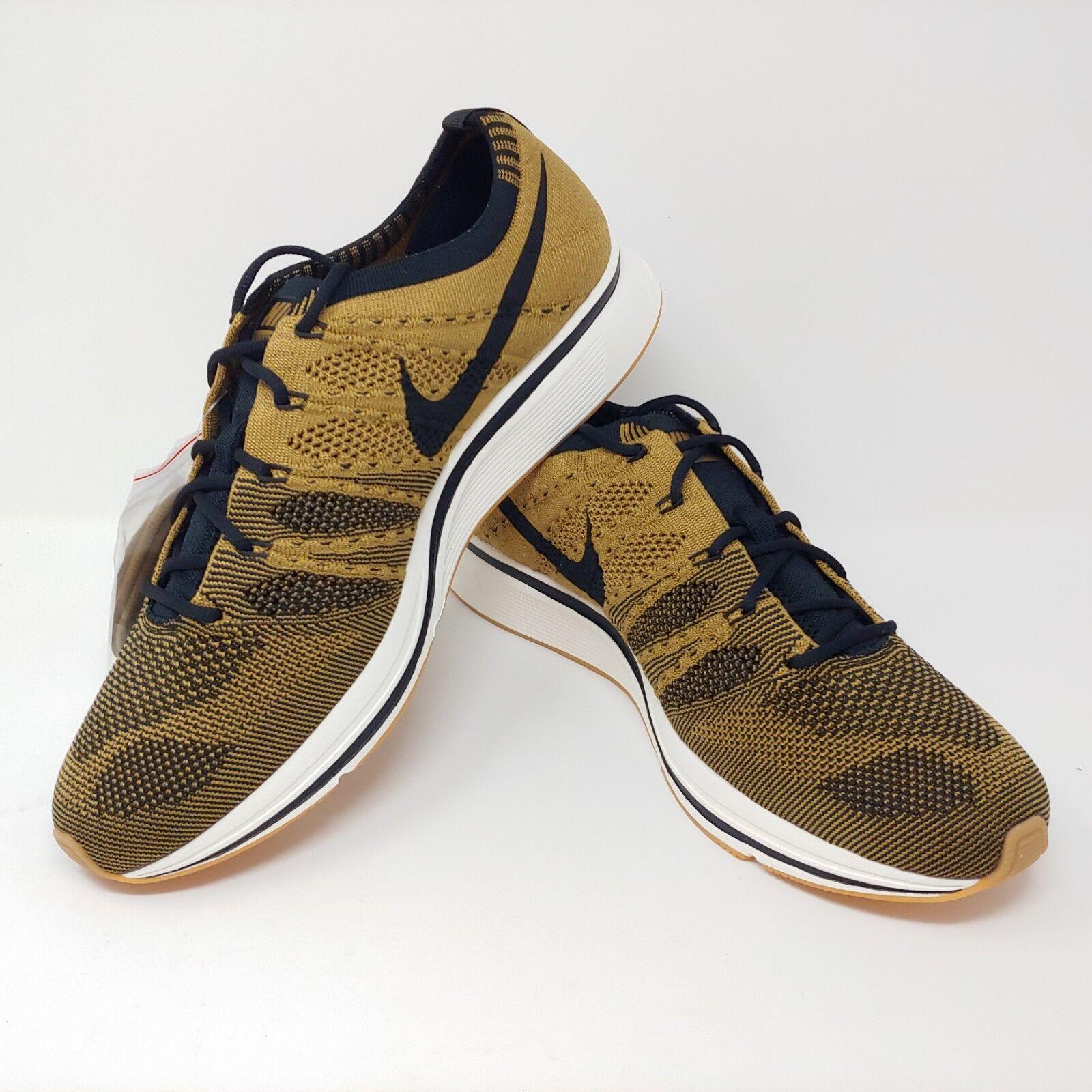 Nike Flyknit Trainer golden Beige Black Brown Running Shows Mens Size 10.5