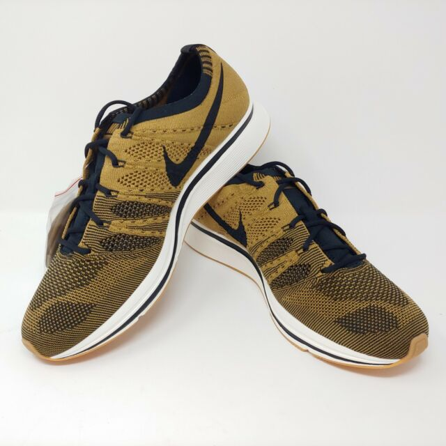 official photos c60c7 d63b0 Nike Flyknit Trainer Golden Beige Black Brown Running Shows Mens Size 10.5