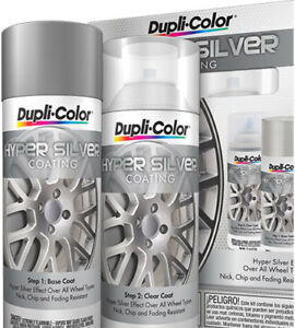 Details About Dupli Color Paint Hsk100 Hyper Silver Coating Vht Spray Can Wheel And Rim