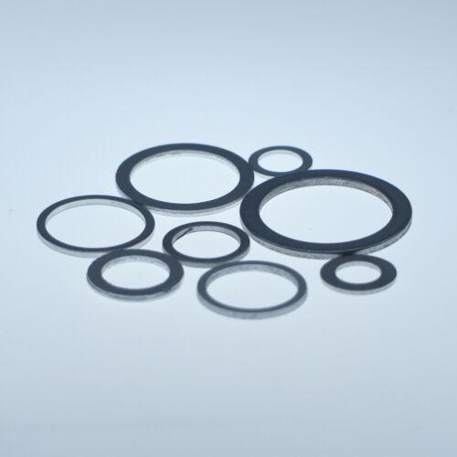 100 Stück Aluminium Dichtringe 18x22x1,5 mm M 18