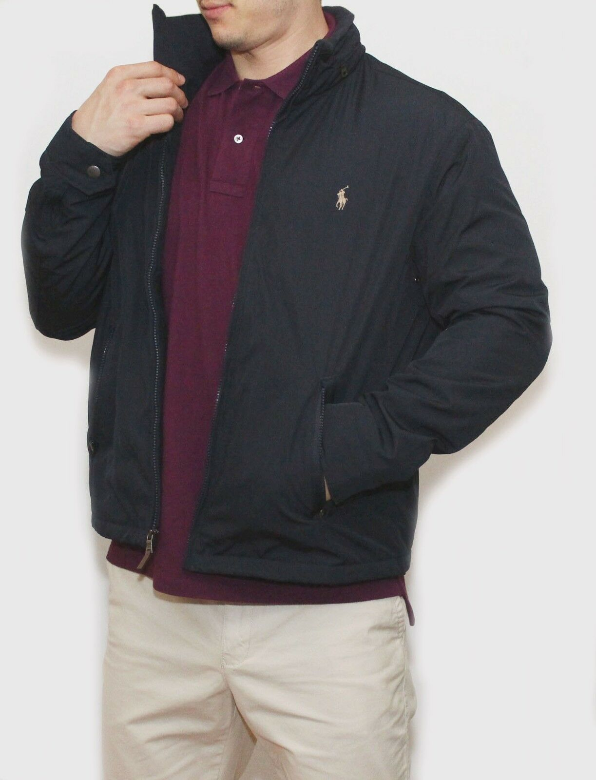 new polo ralph lauren mens pony perry lined jacket fleece. Black Bedroom Furniture Sets. Home Design Ideas