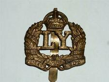 VINTAGE WW1 LEICESTERSHIRE YEOMANRY MILITARY CAP BADGE!