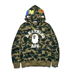 Men/'s Bape A Bathing Ape Full Zip Shark Head Camo Hoodie Coat Sweatshirt Jacket