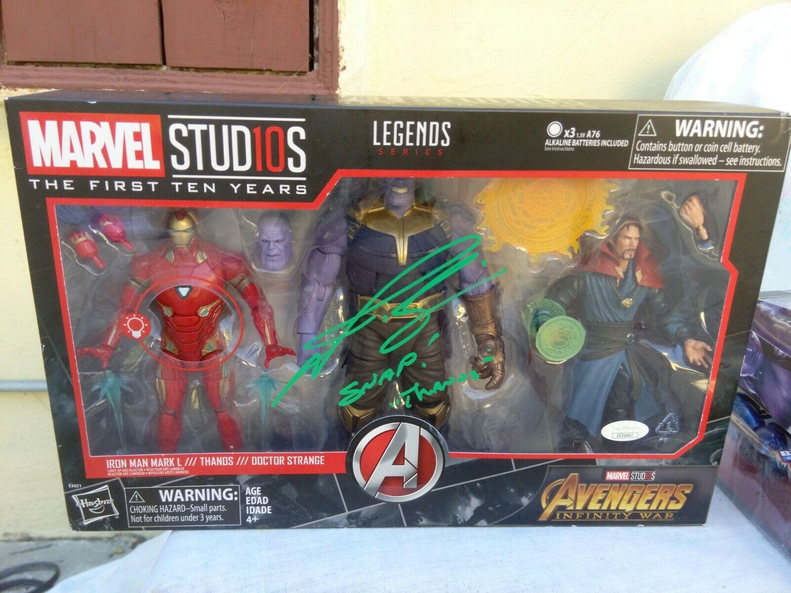 Marvel Legends Thanos firmado Josh Brolin Vengadores Infinito Guerra diez primeros años