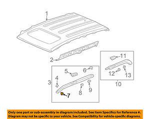 HONDA OEM-Roof Molding Clip 91501SM5A00