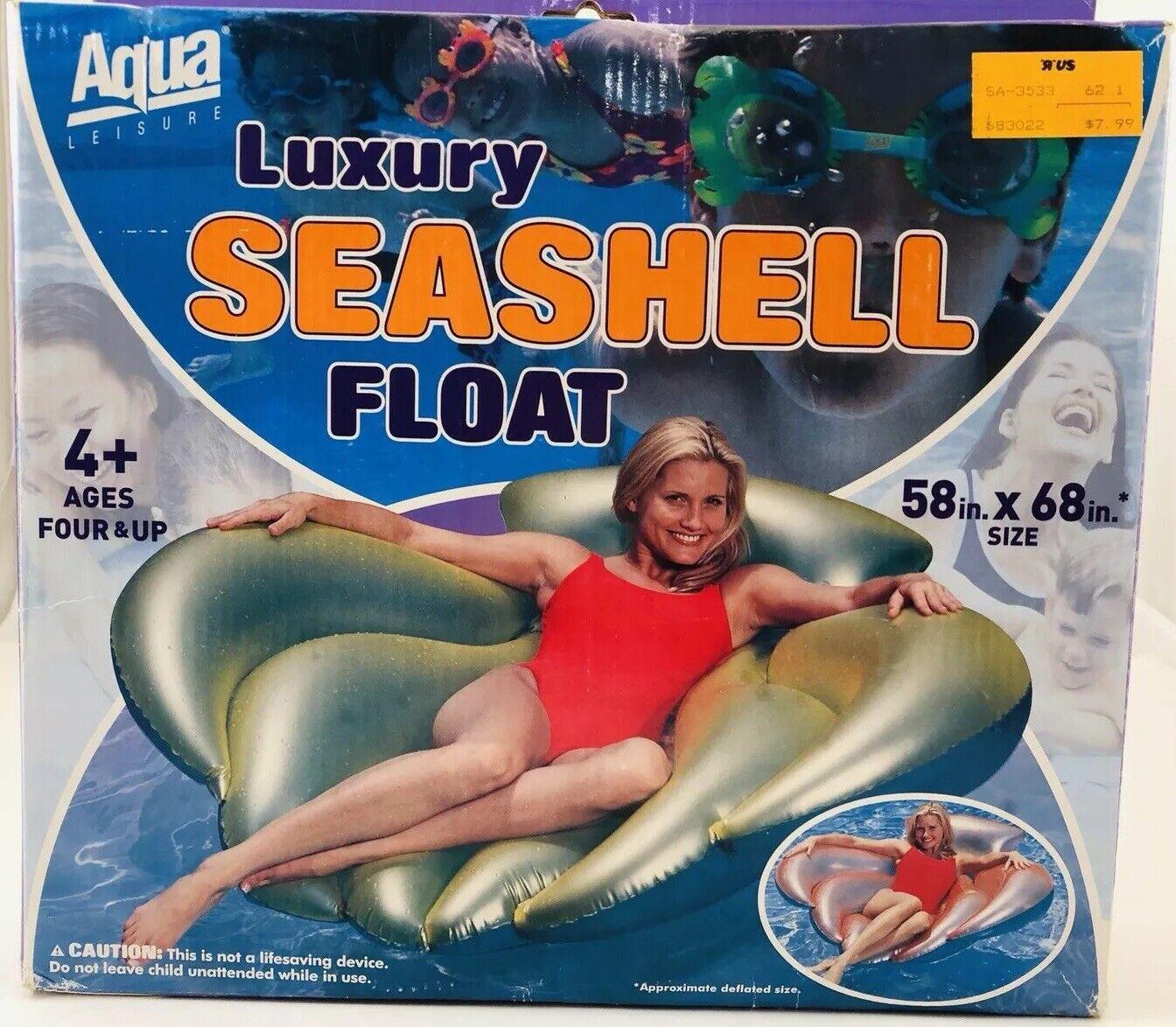 Nuevo Y RARA  de Colección Aqua Leisure Seashell Flotador, Coral