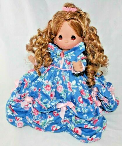 "Disney MOTHERS DAY BELLE Blue Floral 12/"" Precious Moments Doll"