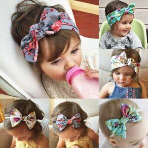 mignon-bebe-fille-elastique-arc-noeud-ruban-chef-le-floral-turban