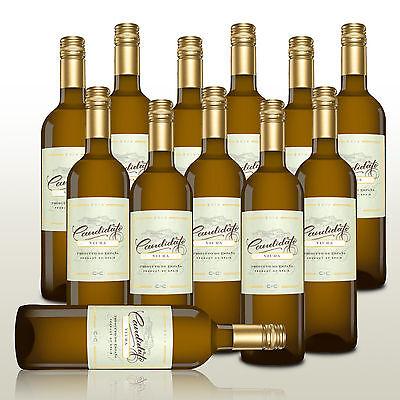12 Fl. Candidato Blanco 2016 - Fruchtig-frischer Weißwein, Wein trocken Spanien