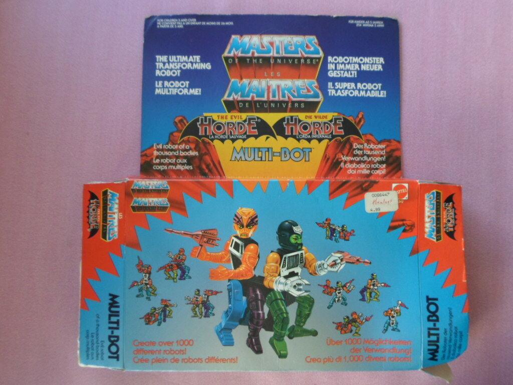 MASTERS OF THE UNIVERSE UNIVERSE UNIVERSE MOTU THE EVIL HORDE MULTI-BOT MATTEL 1985 EMPTY BOX 64376a