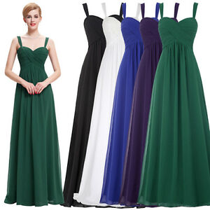 Bride Bridesmaid Evening Formal Wedding Party Cocktail Gown Ball Maxi Dress 2~16