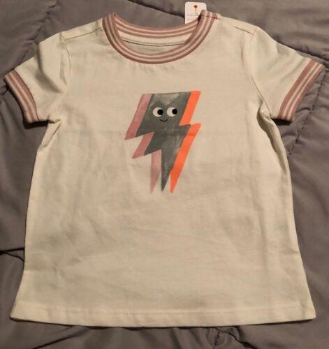 Gymboree NEW//NWT Girls short sleeve lightning bolt top//T-shirt size 2T