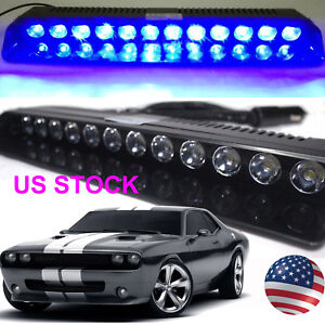 Car emergency strobe light bar warning dash visor flash lamp12 led image is loading car emergency strobe light bar warning dash visor aloadofball Choice Image