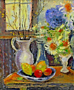 Karl-Troops-1887-1959-Still-Life-with-Flowers-and-Fruits