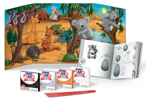Fimo Kits For Kids Form /& Play Polymer Modelling Oven Bake Clay SET Outback