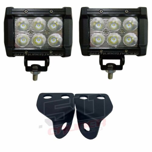 "3/"" Pod Cube LED Light Mount Bracket COMBO Polaris RZR 900 S Trail Made in USA"
