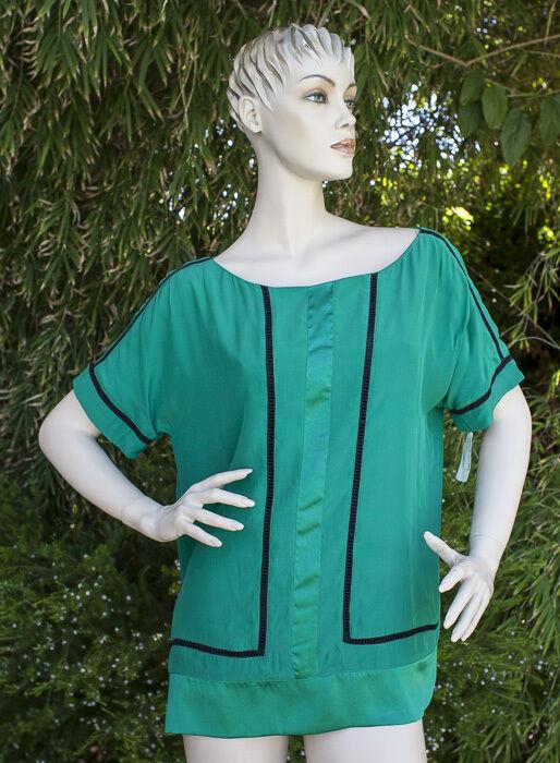 Rag & Bone Silk Shirt NWT  Emerald Grün Größe 10 Bergdorf Goodman