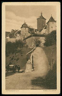 Ak Rothenburg Ob Der Tauber Alte Ansichtskarte Foto-ak Postcard Cx42 Bayern Ansichtskarten