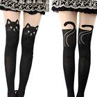 Cute Women Cat Tail Gipsy Mock Knee High Hosiery Pantyhose Tattoo Tights