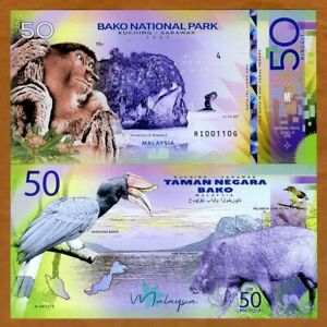 Malaysia-Bako-National-Park-Sarawak-50-Ringgit-Private-Issue-Polymer-2019