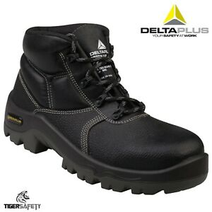 2524897e9c0 Details about Delta Plus Proton S1P Black Leather Mens Composite Toe Cap  Work Safty Boots UK
