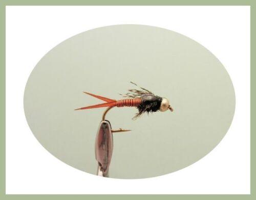 Gold Head Trout Flies Fishing Flies 50 Pack Goldhead Nymph /& Buzzer SF5O