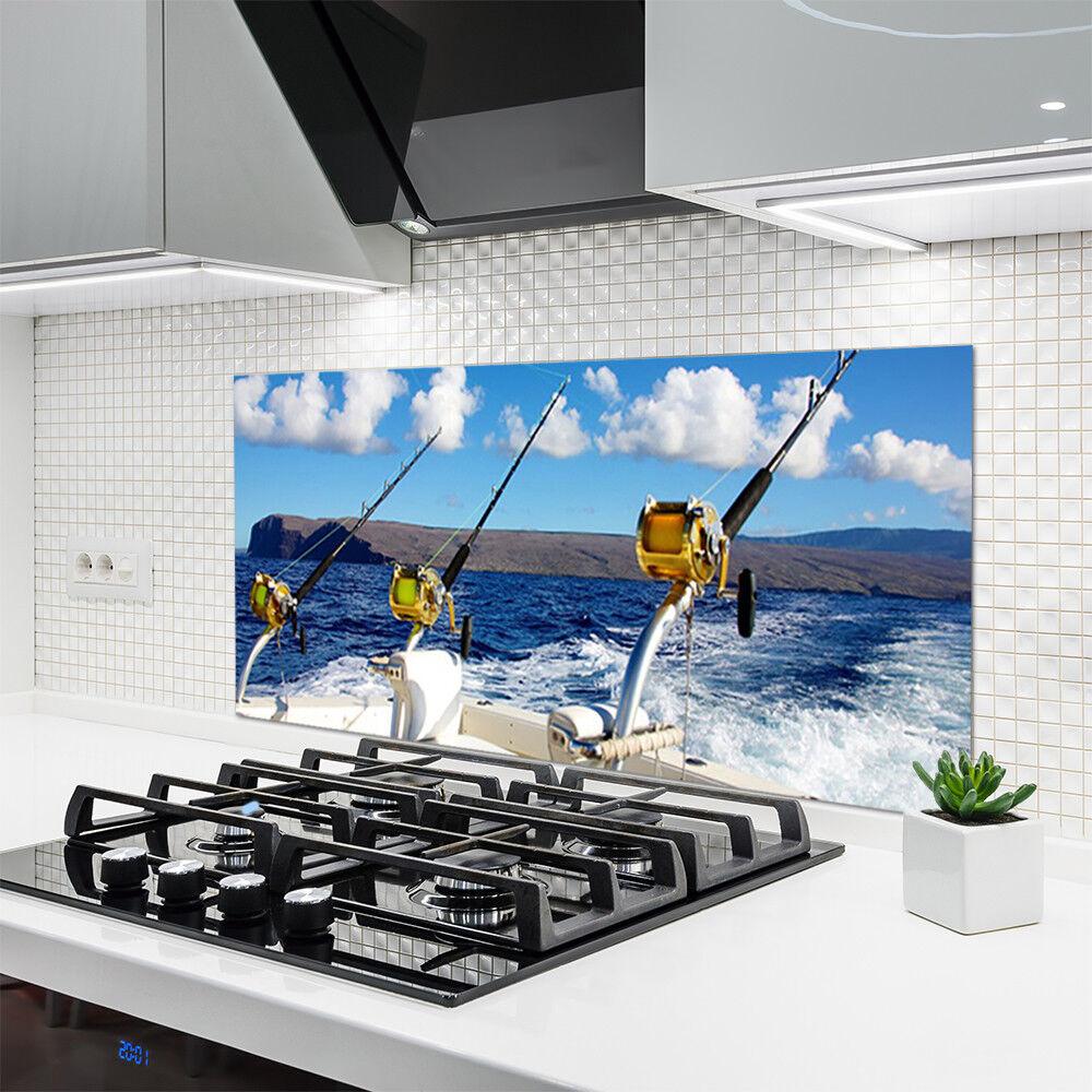 Crédence de cuisine en verre Panneau Panneau Panneau 120x60 Paysage Mer Pêche 03a25d