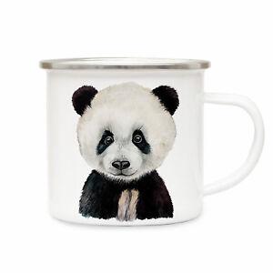 Kindergeschirr & -besteck Emailletasse Panda Campingtasse Tier Motiv Pandatasse Becher Emaillebecher Eb221 StraßEnpreis