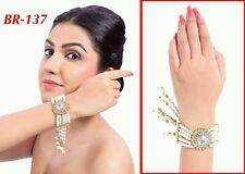 INDIAN Adjustable Gold pearl hand bracelet Uptill 2.10/2*12, hath panja, bangle