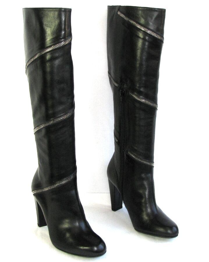 STUART WEITZMAN negro Botas tacones 8.5 cm en piel negro WEITZMAN 36 NUEVO 136a90