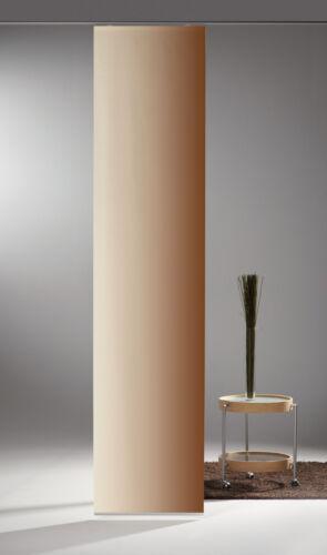Limbo Flächenvorhang Schiebevorhang bedruckt Seidenoptik 60 x 260 cm Uni Verlauf