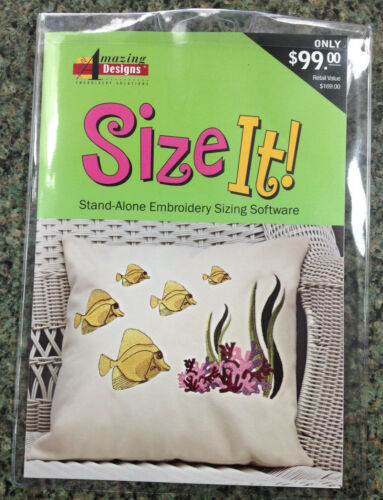 Amazing Designs SIZE IT Machine Embroidery EDITING SIZING Software AD-SI