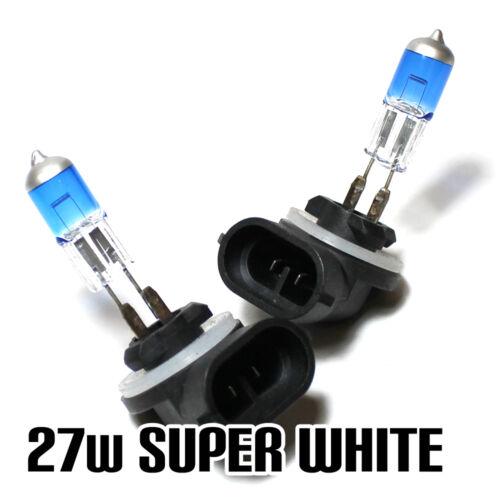 2x H27W//2 27w Super White Xenon Headlight Bulbs 12v XE1 881