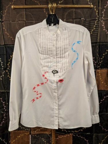 VINTAGE HAND-PAINTED WHITE DRESS SHIRT