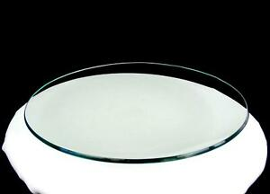 """ELEGANT GLASS CLEAR GREEN TINT CONCAVE HEAVY ROUND 13"""" PLATTER"""