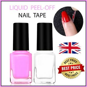 Peel-Off-Nail-Tape-Latex-Liquid-Cream-Base-Coat-Liquid-Polish-Art-Palisade-Pink