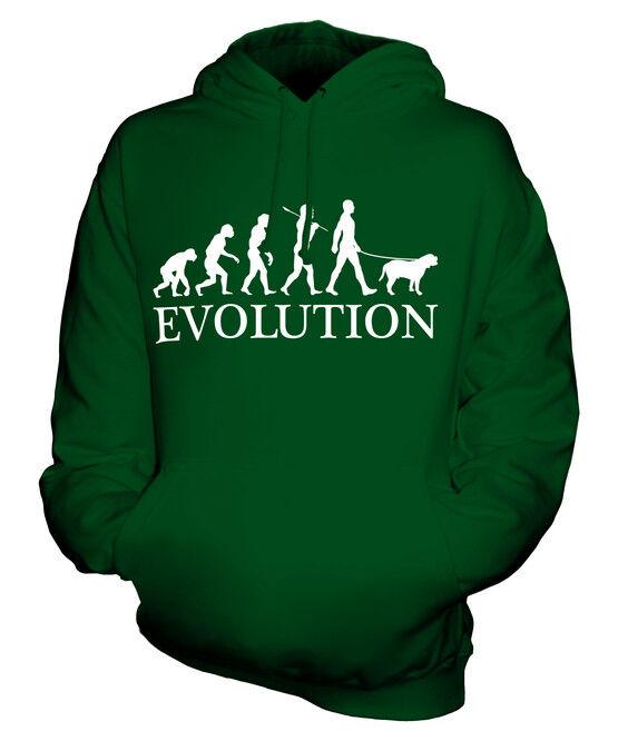 BULLMASTIFF EVOLUTION OF MAN UNISEX HOODIE  Herren Damenschuhe LADIES DOG LOVER GIFT